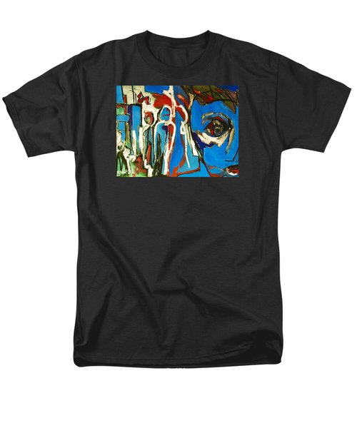 Men's T-Shirt  (Regular Fit) featuring the painting Blue by Helen Syron
