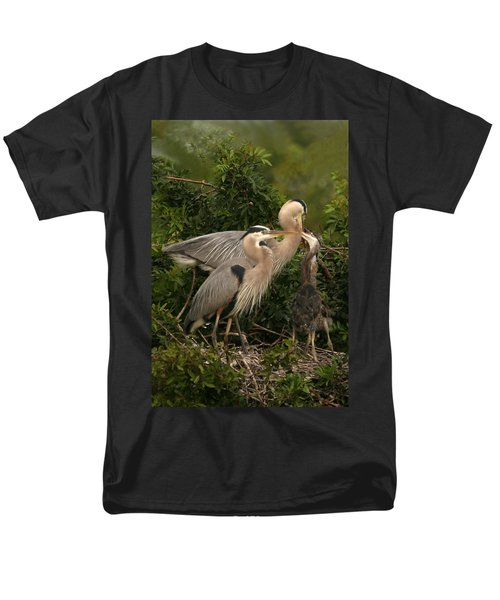 Men's T-Shirt  (Regular Fit) featuring the photograph Blue Heron Family by Shari Jardina
