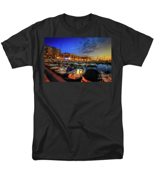 Men's T-Shirt  (Regular Fit) featuring the photograph Blue Hour At Port Nice 1.0 by Yhun Suarez