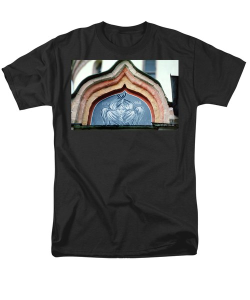 Blue Icon At Trinity Lavra Of St. Sergius In Sergiev Posad Men's T-Shirt  (Regular Fit) by Wernher Krutein