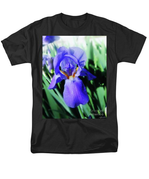 Blue Iris 2 Men's T-Shirt  (Regular Fit) by Lizi Beard-Ward