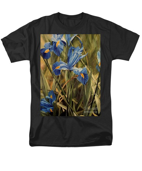 Blue Iris Men's T-Shirt  (Regular Fit) by Laurie Rohner