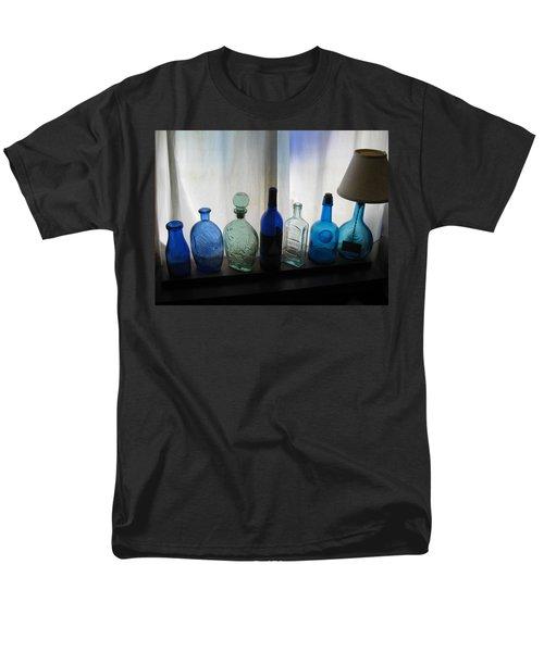 Blue Men's T-Shirt  (Regular Fit) by John Scates