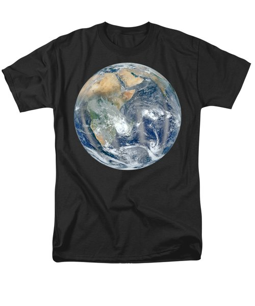Blue Marble 2012 - Eastern Hemisphere Of Earth Men's T-Shirt  (Regular Fit) by Nikki Marie Smith