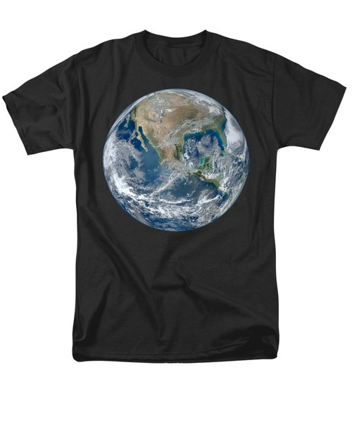 Blue Marble 2012 Planet Earth Men's T-Shirt  (Regular Fit) by Nikki Marie Smith