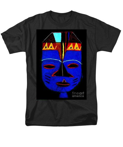 Men's T-Shirt  (Regular Fit) featuring the pastel Blue Mask by Angela L Walker