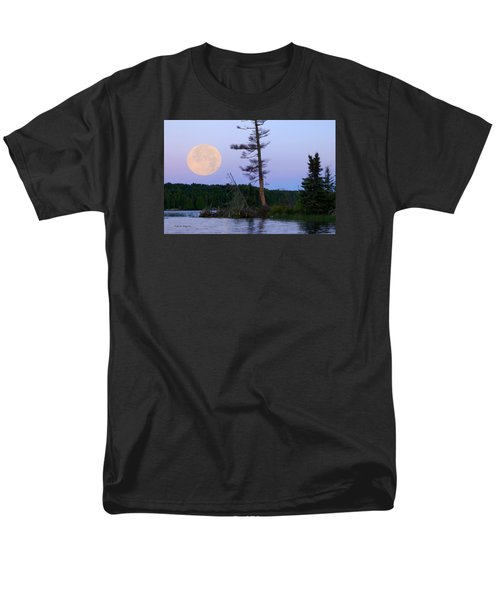 Men's T-Shirt  (Regular Fit) featuring the photograph Blue Moon At Sunrise by Steven Clipperton