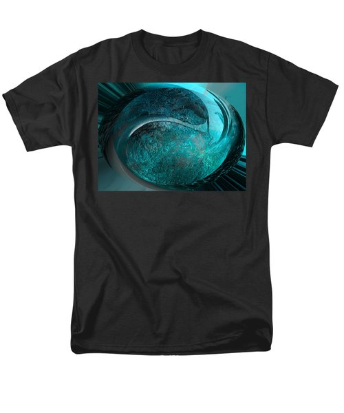 Men's T-Shirt  (Regular Fit) featuring the digital art Blue Moon by Kevin Caudill