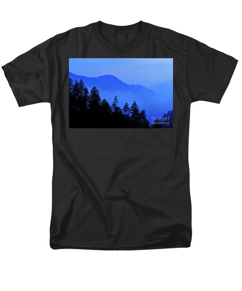 Men's T-Shirt  (Regular Fit) featuring the photograph Blue Morning - Fs000064 by Daniel Dempster