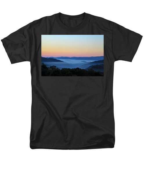 Blue Ridge Dawn Men's T-Shirt  (Regular Fit) by Dale R Carlson