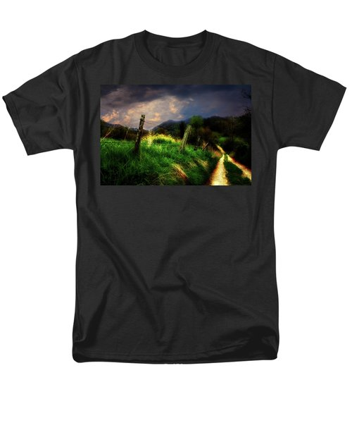 Men's T-Shirt  (Regular Fit) featuring the photograph Blue Ridge Mountain Country Road by Gray  Artus