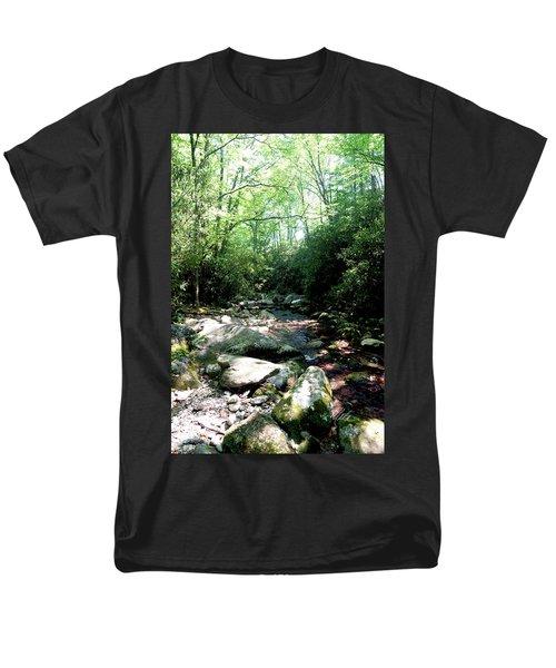 Men's T-Shirt  (Regular Fit) featuring the photograph Blue Ridge Parkway Stream by Meta Gatschenberger