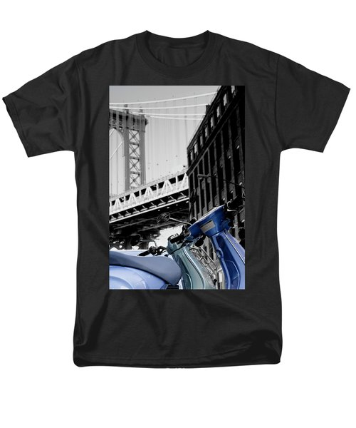 Blue Scooter Men's T-Shirt  (Regular Fit) by Silvia Bruno