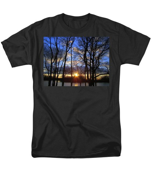Men's T-Shirt  (Regular Fit) featuring the photograph Blue Skies And Golden Sun by J R Seymour