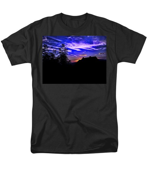 Men's T-Shirt  (Regular Fit) featuring the photograph Blue Sunset In Poland by Mariola Bitner