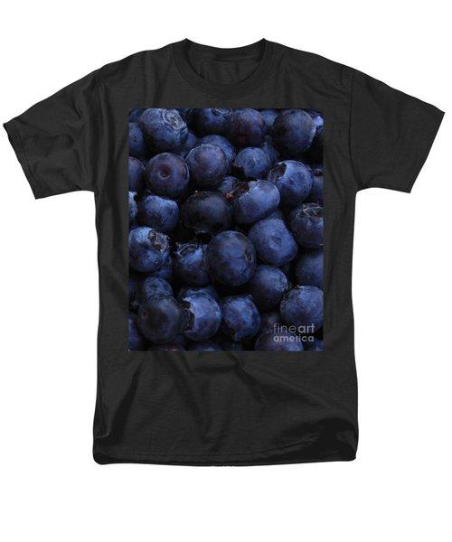 Blueberries Close-up - Vertical Men's T-Shirt  (Regular Fit) by Carol Groenen