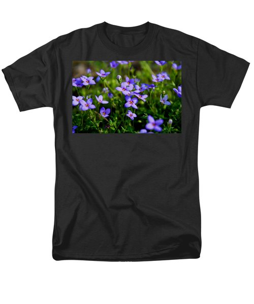 Men's T-Shirt  (Regular Fit) featuring the photograph Bluets by Kathryn Meyer