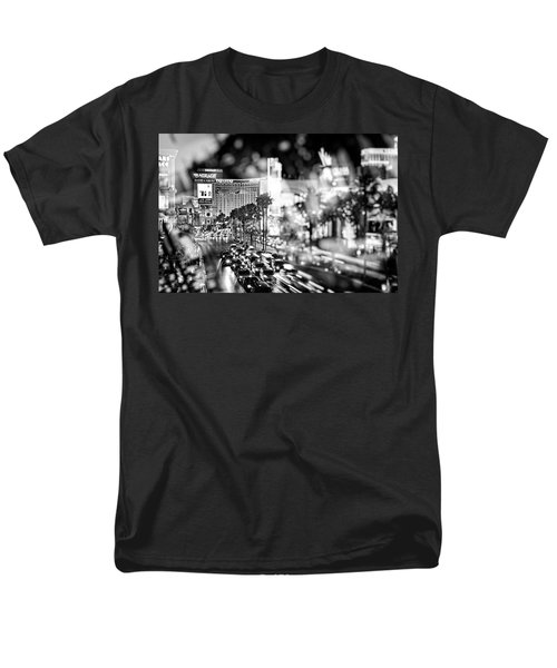 Blurry Vegas Nights IIi Men's T-Shirt  (Regular Fit)