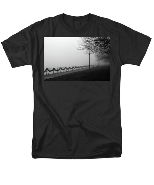 Men's T-Shirt  (Regular Fit) featuring the photograph Boardwalk Fog 7 by Mary Bedy
