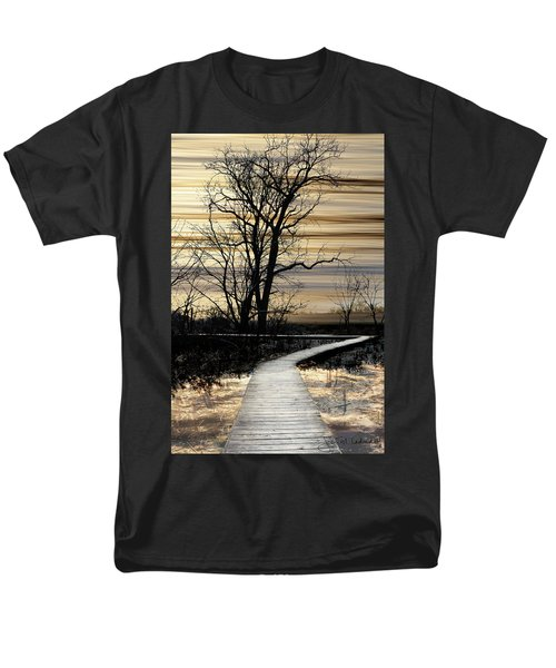 Boardwalk Men's T-Shirt  (Regular Fit) by Joan Ladendorf
