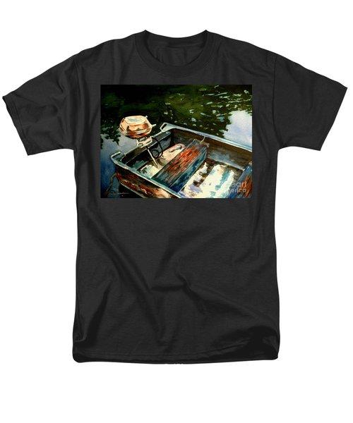 Boat In Fog 2 Men's T-Shirt  (Regular Fit) by Marilyn Jacobson