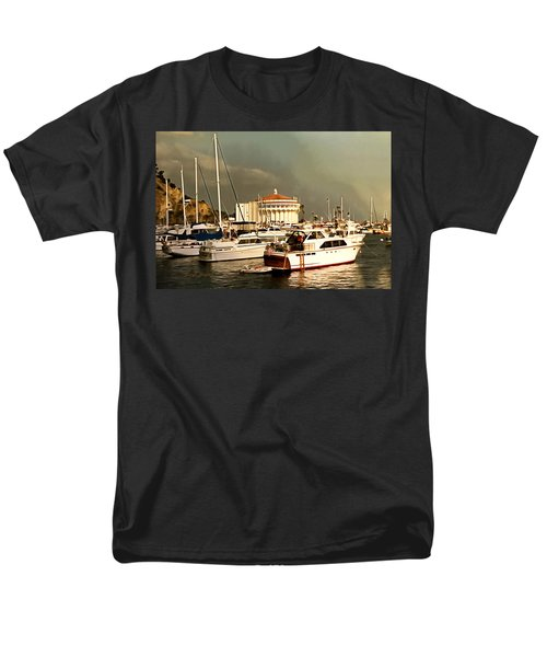 Men's T-Shirt  (Regular Fit) featuring the photograph Boats Catalina Island California by Floyd Snyder