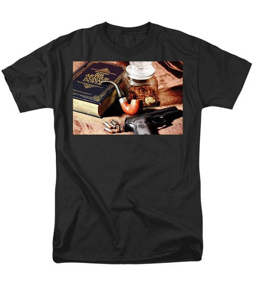Books And Bullets Men's T-Shirt  (Regular Fit) by Barry Jones
