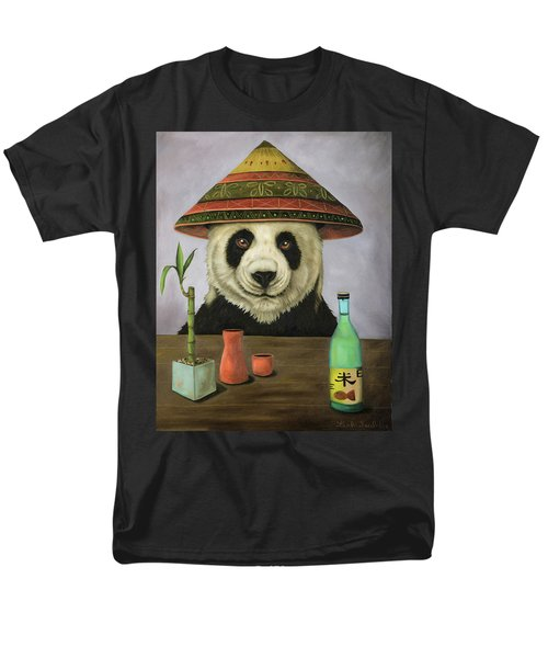 Men's T-Shirt  (Regular Fit) featuring the painting Boozer 4 by Leah Saulnier The Painting Maniac