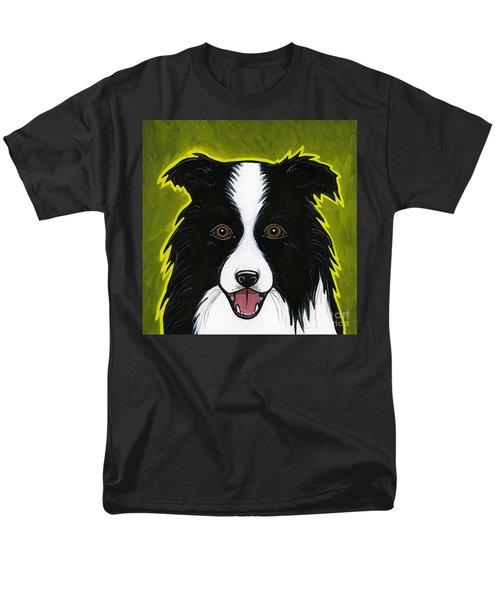 Border Collie Men's T-Shirt  (Regular Fit) by Leanne Wilkes