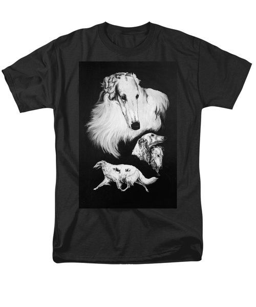 Men's T-Shirt  (Regular Fit) featuring the drawing Borzoi by Rachel Hames