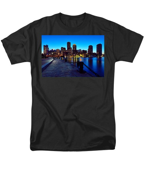 Boston Harbor Walk Men's T-Shirt  (Regular Fit) by Rick Berk