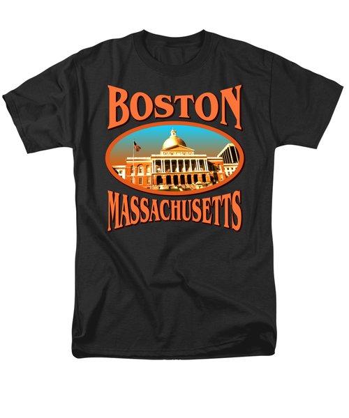 Boston Massachusetts Design Men's T-Shirt  (Regular Fit)