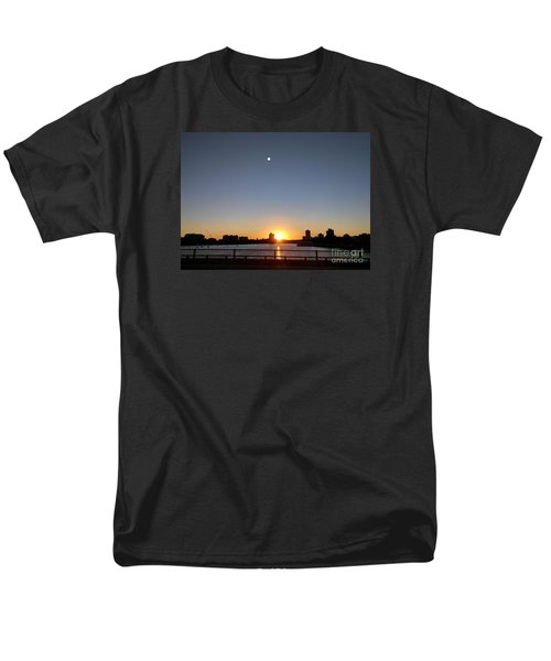Men's T-Shirt  (Regular Fit) featuring the photograph Boston Skyline Sunset   by Haleh Mahbod