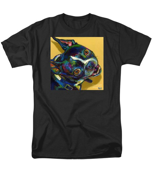 Men's T-Shirt  (Regular Fit) featuring the digital art Boston Terrier by Robert Phelps
