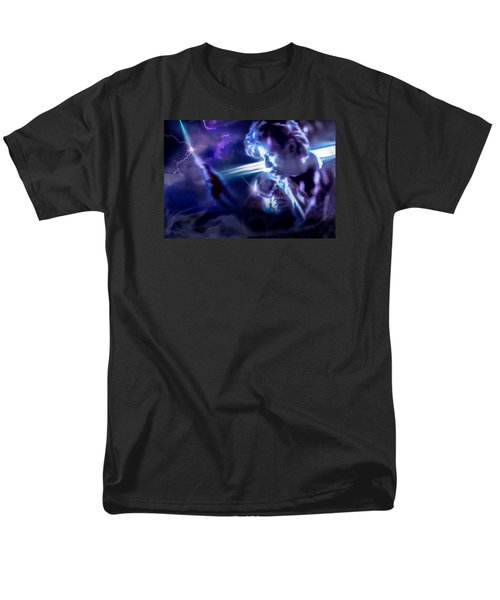 Men's T-Shirt  (Regular Fit) featuring the photograph Bowie A Trip To The Stars by Glenn Feron