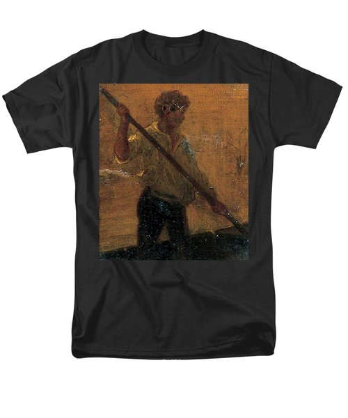 Men's T-Shirt  (Regular Fit) featuring the painting Boy In A Punt by Henry Scott Tuke