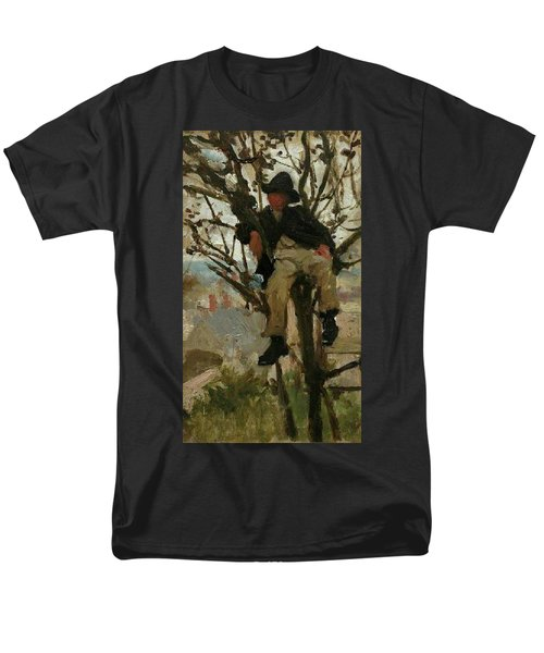 Men's T-Shirt  (Regular Fit) featuring the painting Boy In A Tree by Henry Scott Tuke