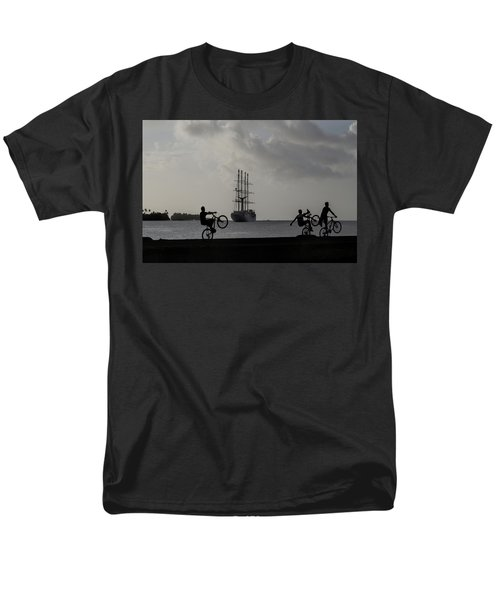 Men's T-Shirt  (Regular Fit) featuring the photograph Boys At Play by Sharon Jones