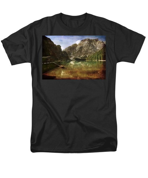 Braies Lake Men's T-Shirt  (Regular Fit) by Vittorio Chiampan