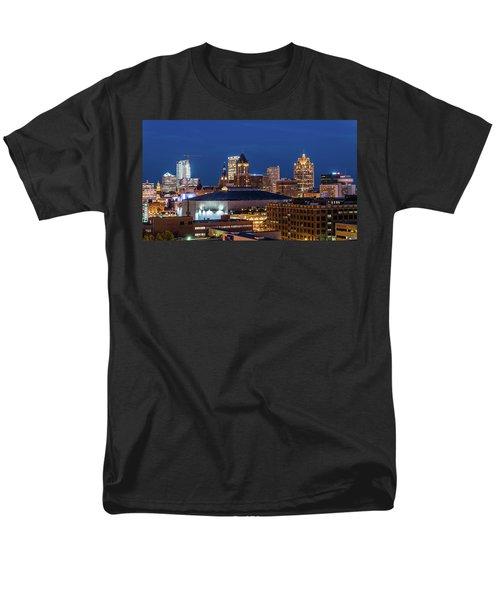 Brew City At Dusk Men's T-Shirt  (Regular Fit) by Randy Scherkenbach