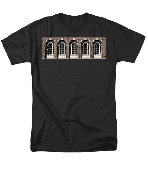 Men's T-Shirt  (Regular Fit) featuring the photograph Brick Arch Windows by Brad Allen Fine Art