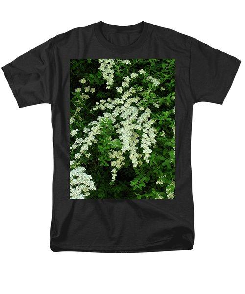 Bridal Wreath Men's T-Shirt  (Regular Fit) by Shirley Heyn