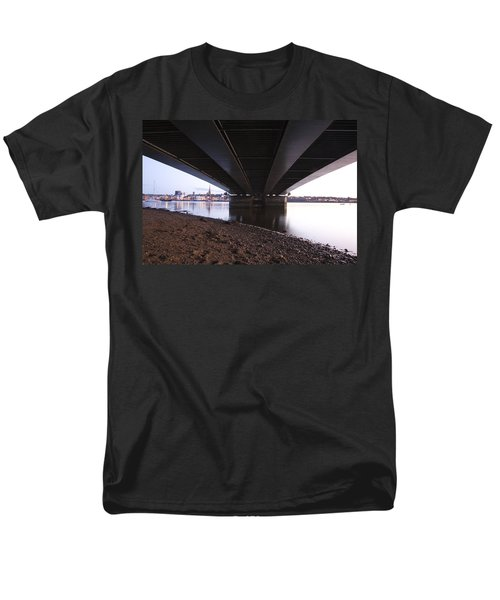 Men's T-Shirt  (Regular Fit) featuring the photograph Bridge Over Wexford Harbour by Ian Middleton