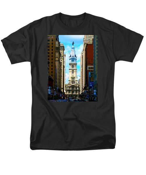 Men's T-Shirt  (Regular Fit) featuring the photograph Philadelphia by Christopher Woods