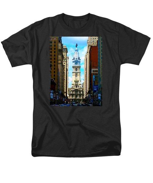 Philadelphia Men's T-Shirt  (Regular Fit) by Christopher Woods