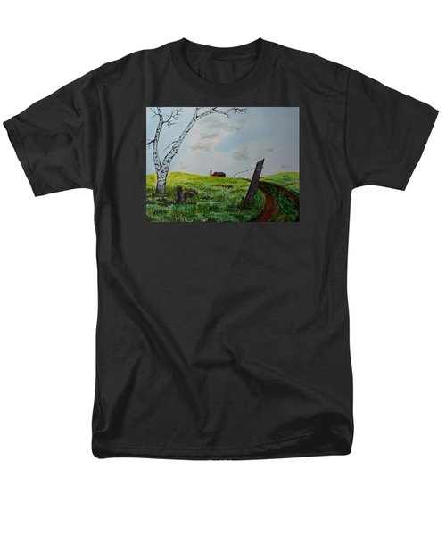 Broken Fence Men's T-Shirt  (Regular Fit) by Jack G  Brauer