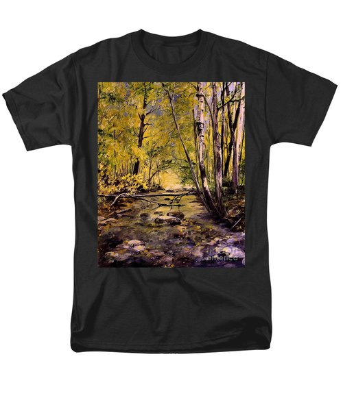 Brook In Stowe Vermont Men's T-Shirt  (Regular Fit) by Laurie Rohner