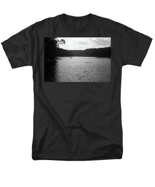 Men's T-Shirt  (Regular Fit) featuring the photograph Brookfield, Vt - Swimming Hole Bw 2 by Frank Romeo