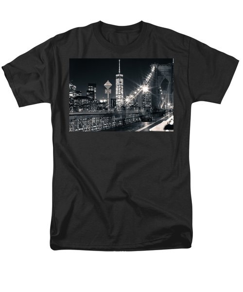 Brooklyn Bridge Men's T-Shirt  (Regular Fit) by Silvia Bruno