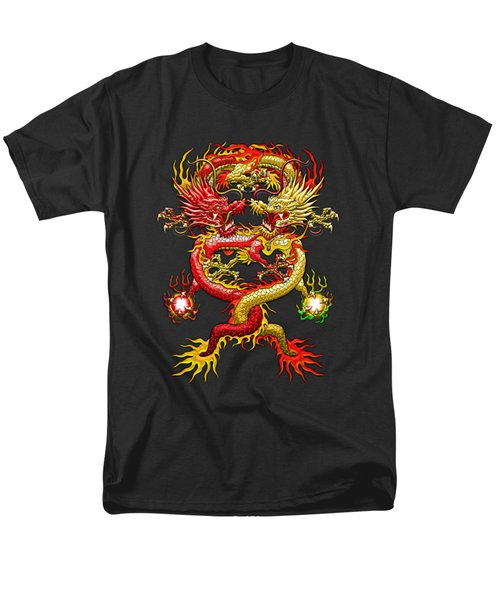 Brotherhood Of The Snake - The Red And The Yellow Dragons  Men's T-Shirt  (Regular Fit) by Serge Averbukh
